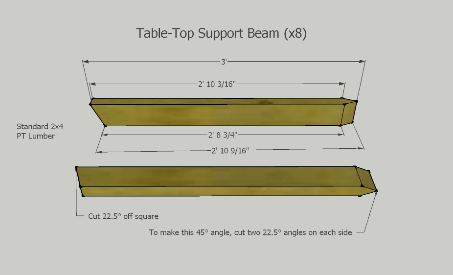 Jobsite Blueprint Table Octagonal Picnic Table   Residential Design and Fabrication