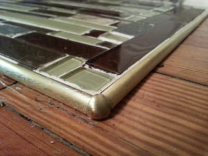 Hearth Tile Border Schluter RONDEC brass